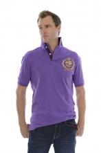 Modern-Fit Big Crest Polo Purple
