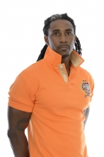 Modern-Fit Big Crest Polo Orange